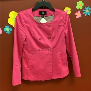 H&M Hot Pink Sailor Blazer